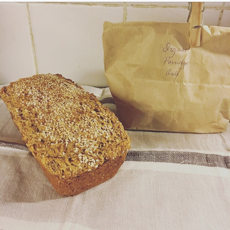 wheat free bread: porridge bread